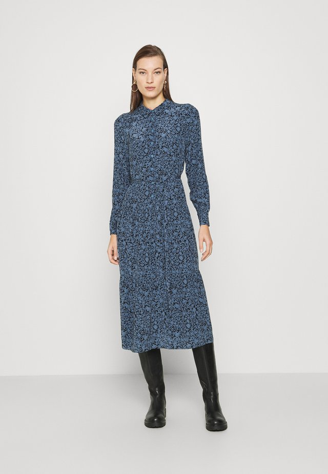 EUCALYPTUS PRINT DRESS - Skjortklänning - blue