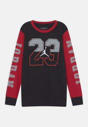 23 SPLIT SPECKLE TEE - Langarmshirt - black