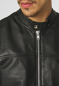 Only & Sons - ONSDEAN JACKET - Leather jacket - black - 5