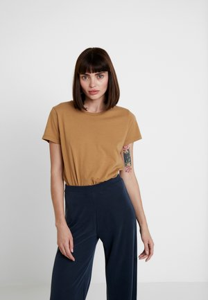 SOLLY TEE SOLID - T-shirts - khaki