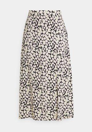 VILANA LEO SLIT SKIRT - A-line skirt - black