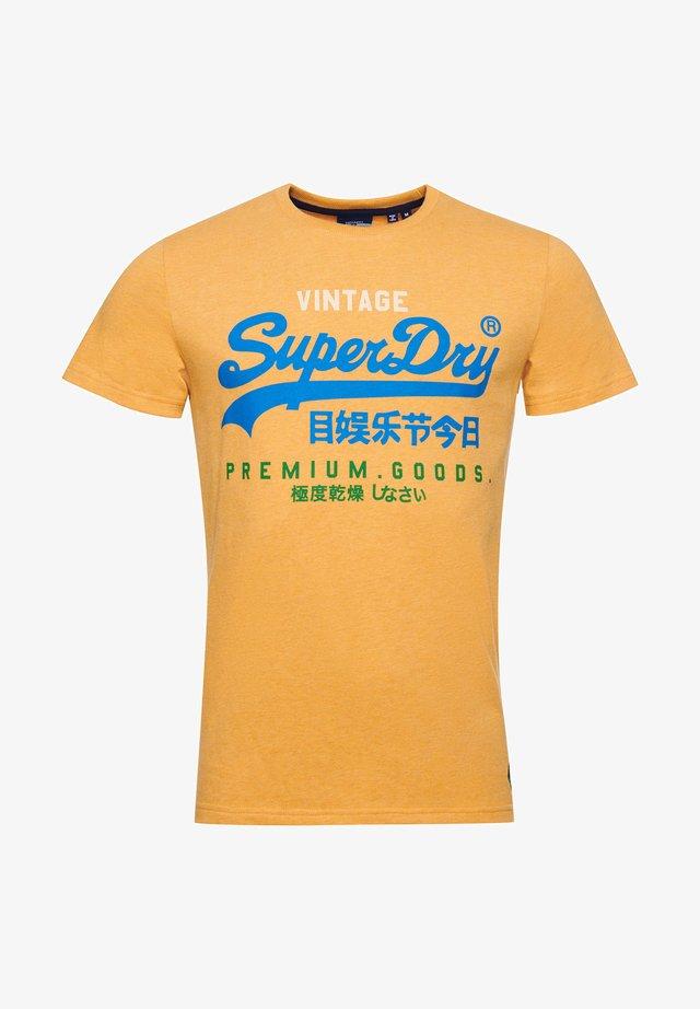 T-Shirt print - ochre marl