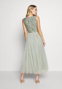 Maya Deluxe - OVERLAY DELICATE SEQUIN DRESS - Juhlamekko - green - 2