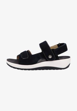 Sandaler m/ kilehæl - blau