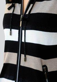 Alba Moda - Zip-up sweatshirt - schwarz,off-white,taupe - 3