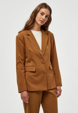 AMBER BLAZER - Blazer - rustic brown