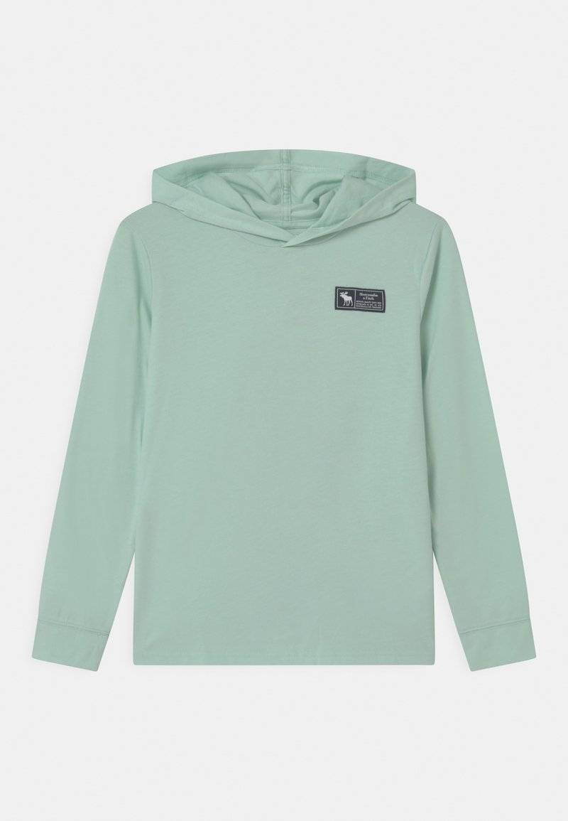 Abercrombie & Fitch - LOGO HOOD - Long sleeved top - mint