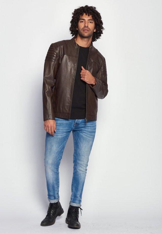ROCHA - Leren jas - brown