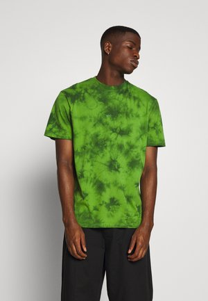 TWO TONE TEE - T-shirt z nadrukiem - green