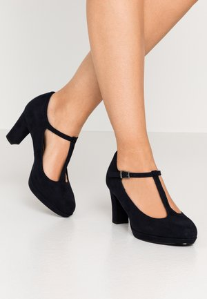 WOMS SLIP-ON - Plateaupumps - navy