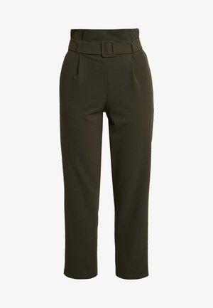 BELT PAPERBAG TROUSER - Pantalon classique - khaki