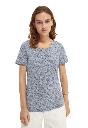 ALLOVER PRINTED TEE - T-shirt print - white