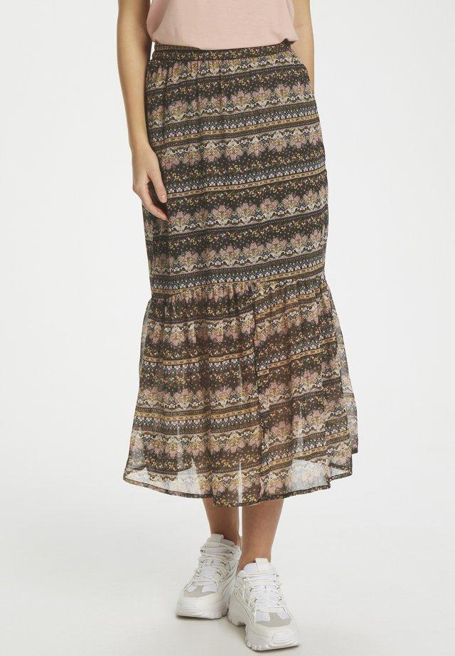 BABETTESZ  - A-line skirt - black paisley