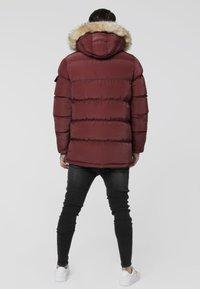 SIKSILK - PUFF - Winter coat - burgundy - 2