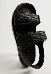 Mango - Sandals - noir - 4