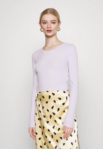Long sleeved top - lilac/black