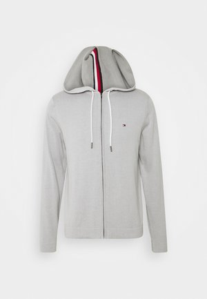 TIPPED DOUBLE FACE ZIP HOODIE - Kardigan - light cast
