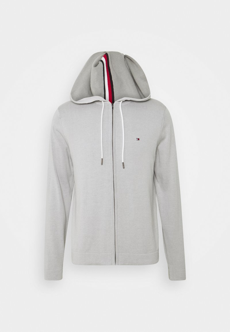 Tommy Hilfiger - TIPPED DOUBLE FACE ZIP HOODIE - Kardigan - light cast