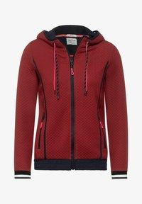 Cecil - MIT STRUKTUR - Zip-up sweatshirt - braun - 3