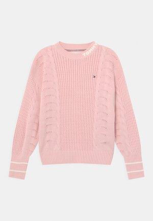 CABLE - Maglione - delicate pink
