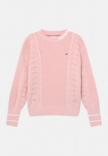 CABLE - Sweter - delicate pink