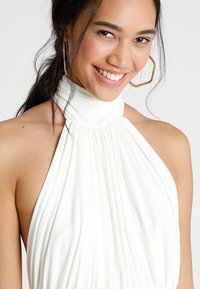 Club L London - HALTER NECK RUCHED DETAIL FISHTAIL MAXI DRESS - Occasion wear - white - 3