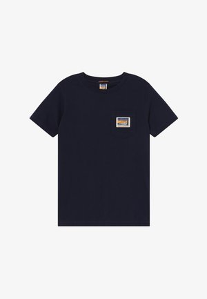 SHORT SLEEVE TEE WITH POCKET - Basic T-shirt - night