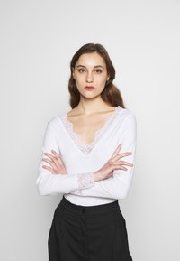 Anna Field - 2 Pack - Long sleeved top - white/ black - 4