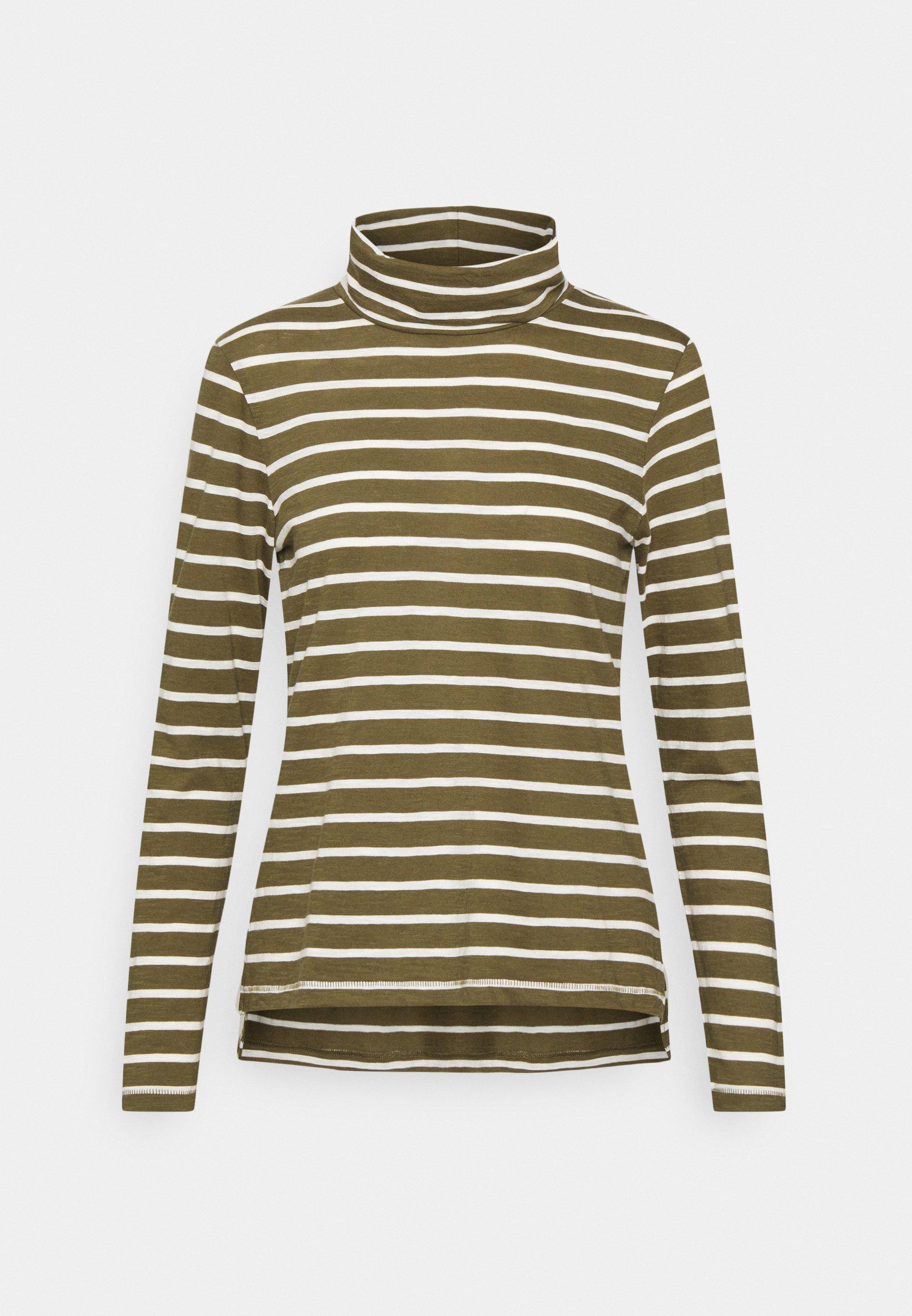 Women WHISPER TURTLENECK IN LOBSTER STRIPE - Long sleeved top