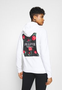 Hollister Co. - PRINT LOGO  - Hoodie - white - 2