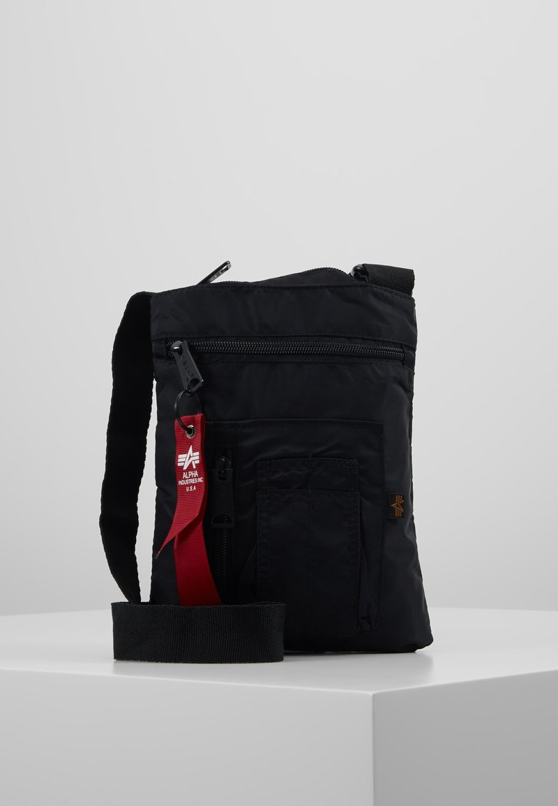 Alpha Industries - CREW MESSENGER BAG - Across body bag - black