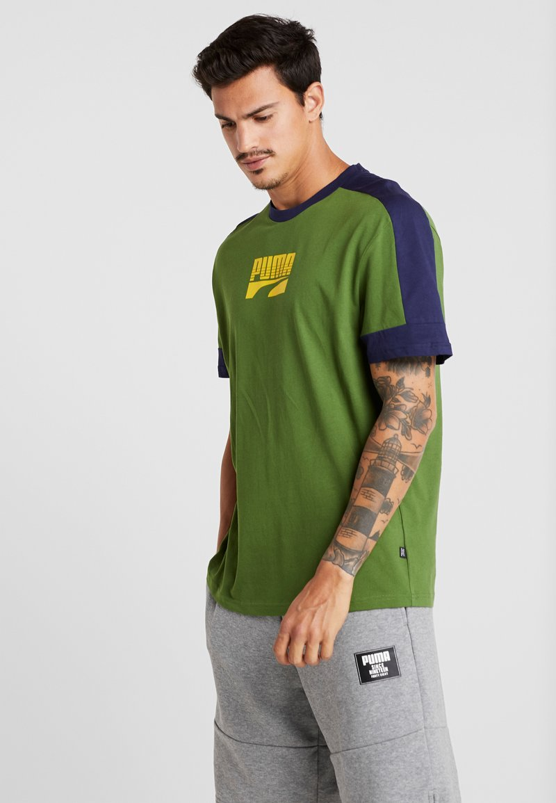 Puma - REBEL BLOCK TEE - T-Shirt print - garden green
