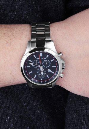 Chronograph watch - schwarz silber