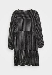 Vero Moda Curve - VMFIE SHORT DRESS - Denní šaty - black/birch dot - 3