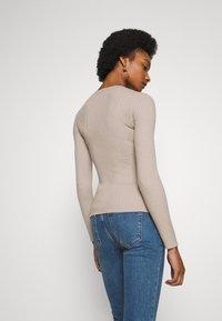 Anna Field - BASIC- RIBBED JUMPER - Pullover - gray tan - 2