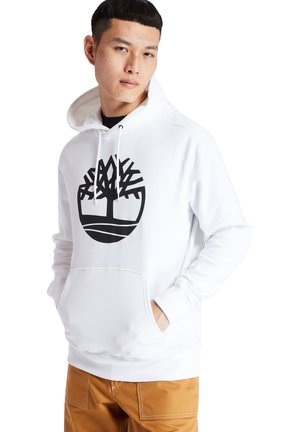 CORE TREE LOGO - Hoodie - white-black