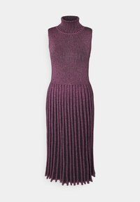 Milly - PLEATED MIDI DRESS - Shift dress - black/pink - 0