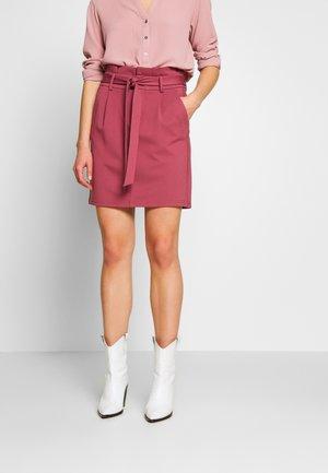 ONLPOPTRASH EASY PAPERBAG SKIRT - Mini skirt - wild ginger