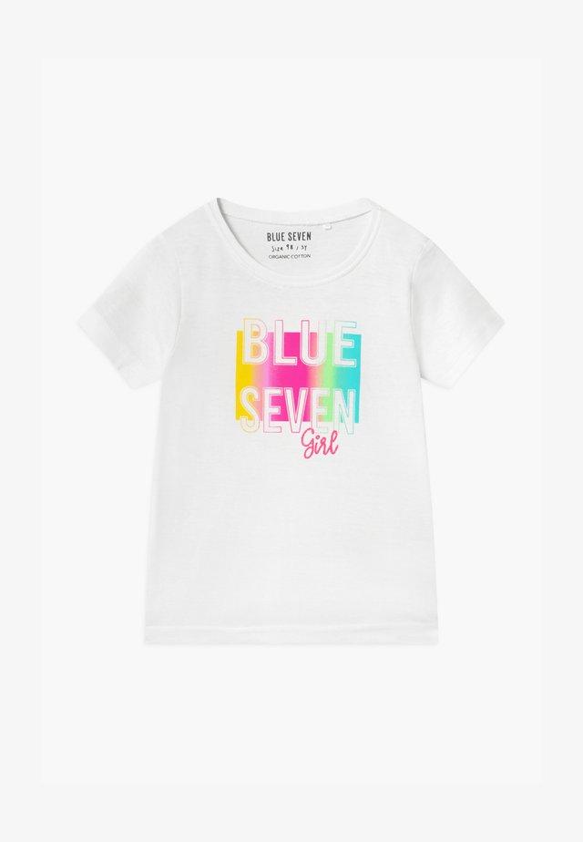 SMALL GIRLS RAINBOW LOVE - Print T-shirt - weiß