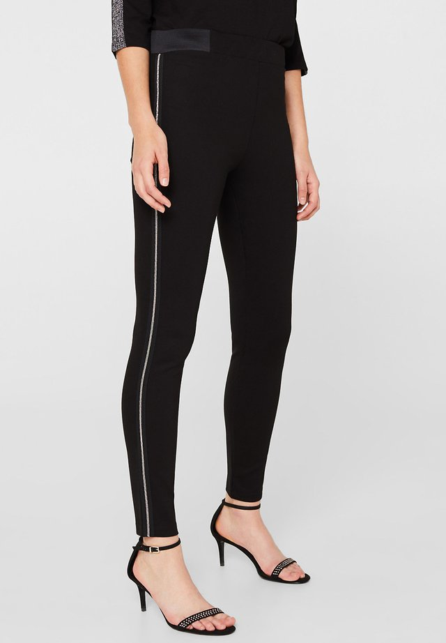 MIT PERLENKETTEN-APPLIKATION - Leggings - Trousers - black
