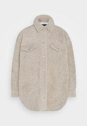 KOMO - Leather jacket - black/natural
