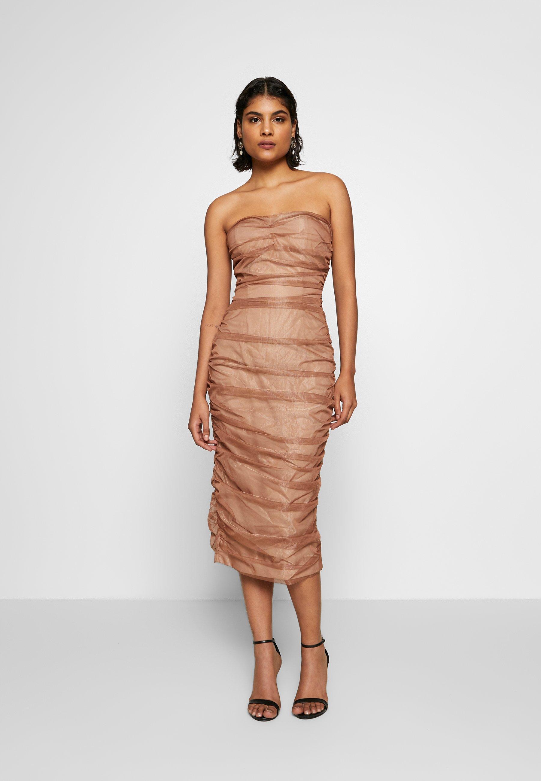 Lexi Courtney Dress Cocktail Dress Party Dress Rose Gold Gold Zalando Co Uk