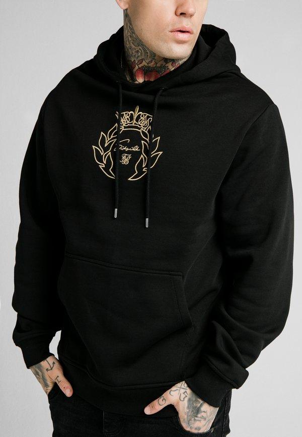 SIKSILK OVERHEAD TAPE HOODIE - Bluza z kapturem - black/gold/czarny Odzież Męska VFIW