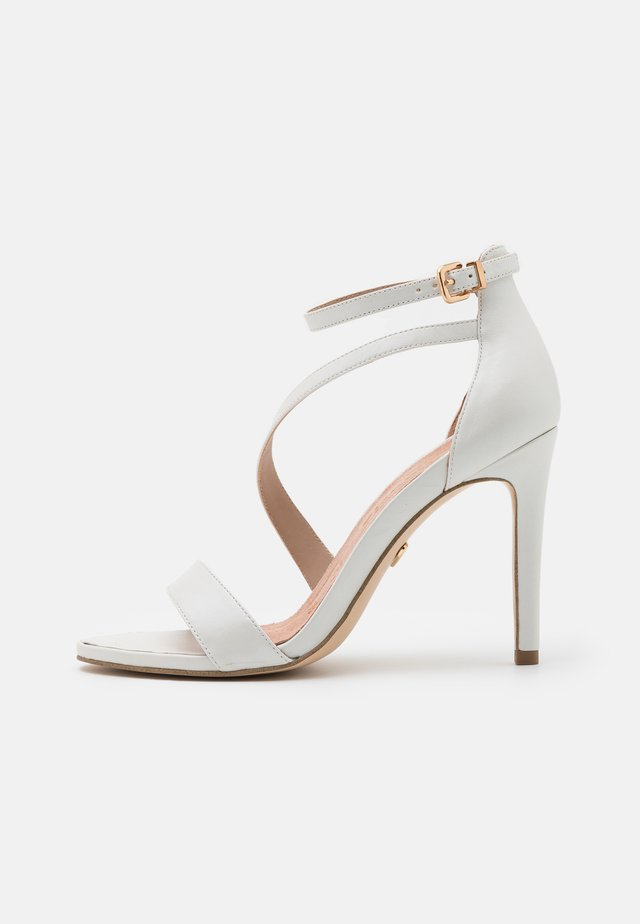 High heeled sandals - white pearl