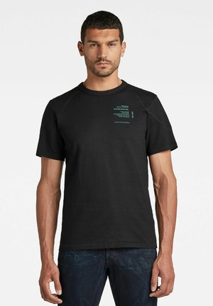 SHOULDER PANEL - T-shirt con stampa - dk black