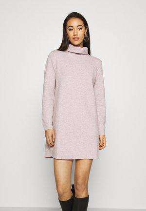 JDY BRILLIANT ROLLNECK - Jumper dress - nostalgia rose