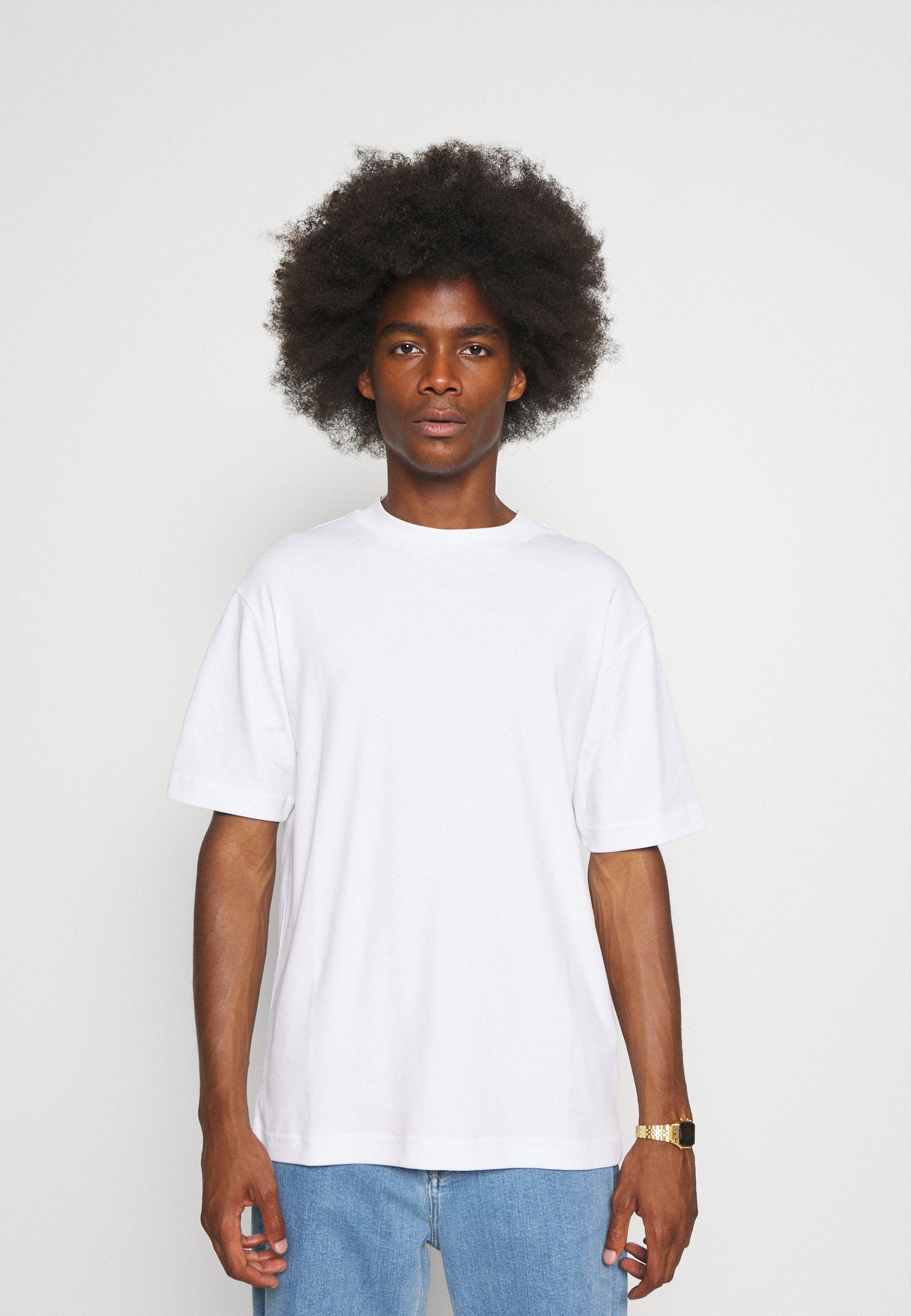 Men MOCK NECK TEE - Basic T-shirt - white