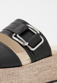 Vagabond - FELICIA - Pantofle na podpatku - black - 3
