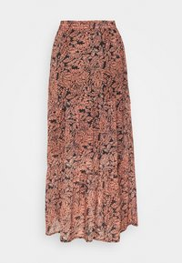 Kaffe - KAFINOLIA SKIRT - A-line skirt - black/coral - 1