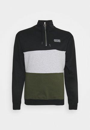 HALF ZIP BLOCK - Sweatshirt - black